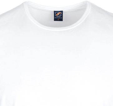 Suitable T-shirt 2er Pack O-Hals Weiß