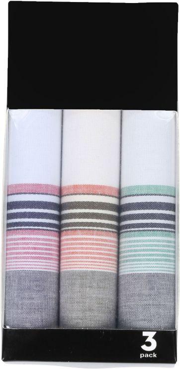 Suitable Taschentücher Hanky Multicolour Streifen