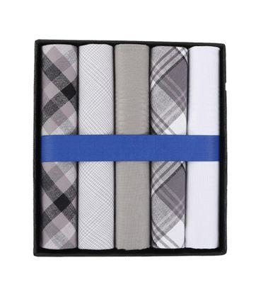 Suitable Taschentücher Weiß Grau Kariert