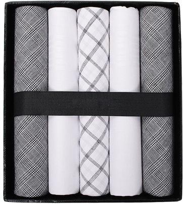 Suitable Taschentücher Weiß Schwarz Mini Kariert