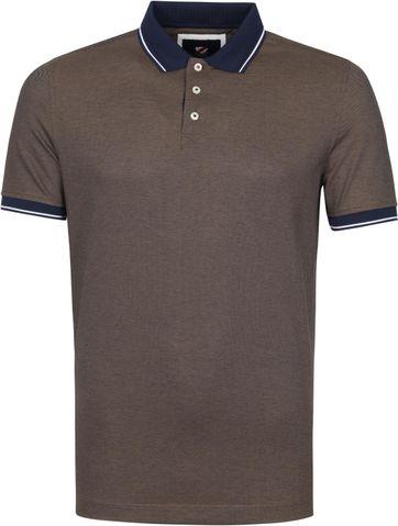 Suitable Tech Polo Shirt Brown