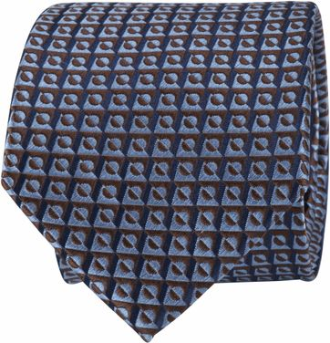 Suitable Tie Blocked Blauw