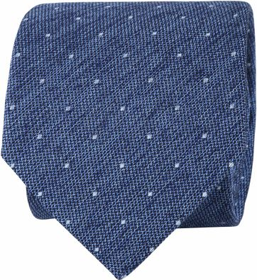 Suitable Tie Blocked Dots Blue
