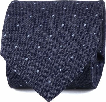 Suitable Tie Blocked Dots Dark Blue