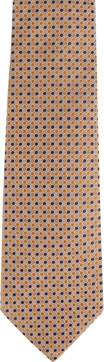 Suitable Tie Blocked Dots Orange Navy