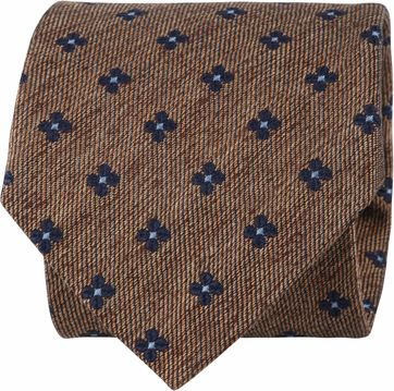 Suitable Tie Blocked Flowers Brown
