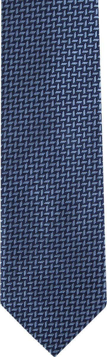 Suitable Tie Blue Printed
