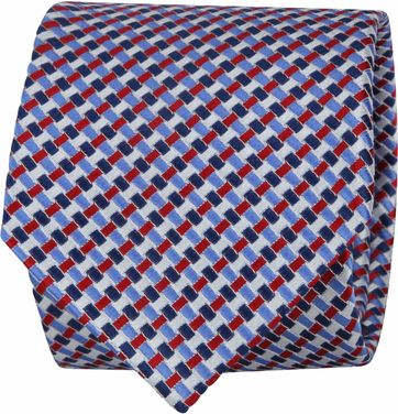 Suitable Tie Blue Red