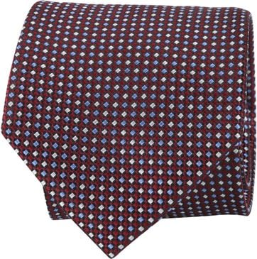 Suitable Tie Bordeaux Printed