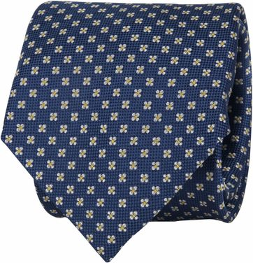 Suitable Tie Flower Dark Blue
