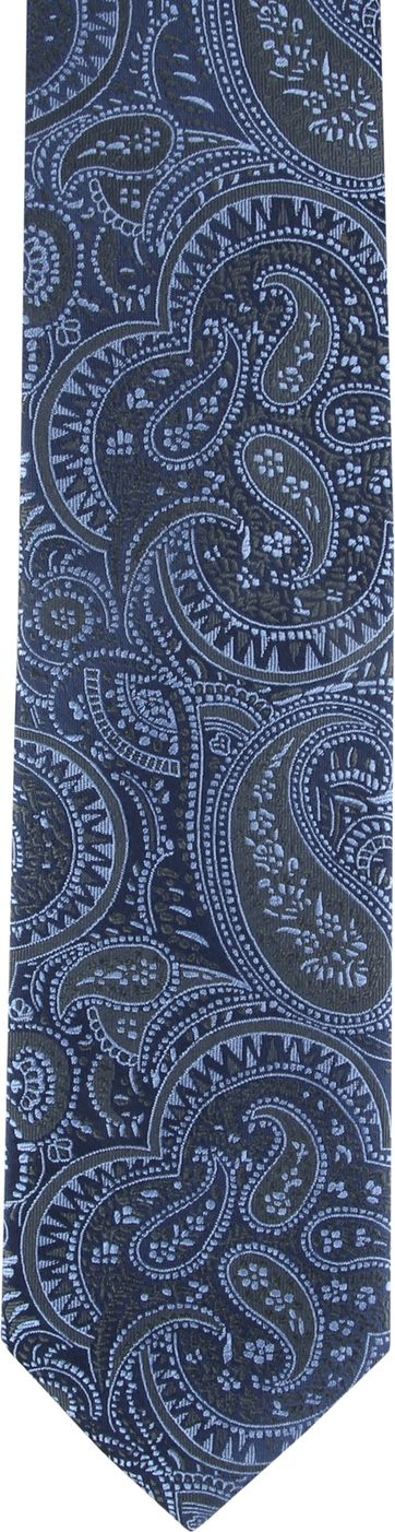 Suitable Tie Paisley Blue