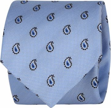 Suitable Tie Paisley Light Blue