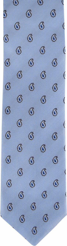 Suitable Tie Paisley Light Blue