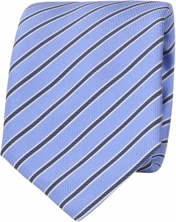 Suitable Tie Progetto Stripe Blue