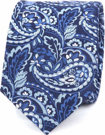 Suitable Tie Side Paisley Navy