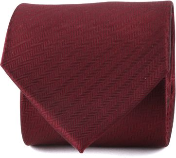 Suitable Tie Silk Dark Red