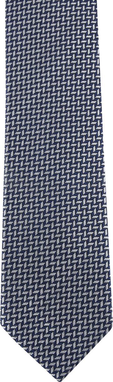 Suitable Tie Silver Printed