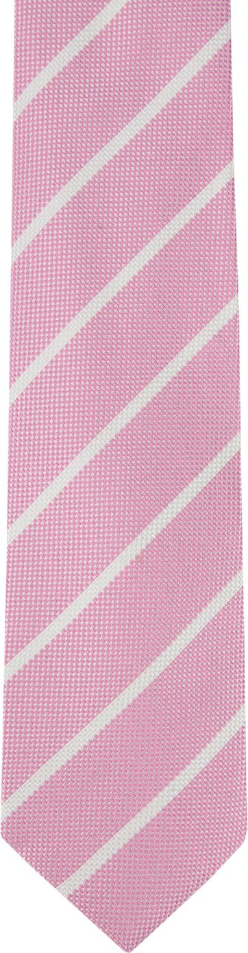 Suitable Tie Stripe Pink