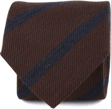 Suitable Tie Stripes Brown