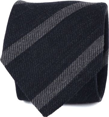 Suitable Tie Stripes Dark Grey