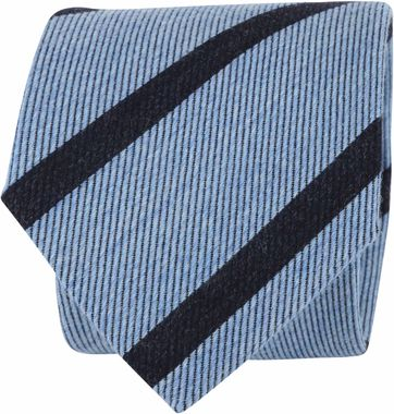 Suitable Tie Stripes Light Blue