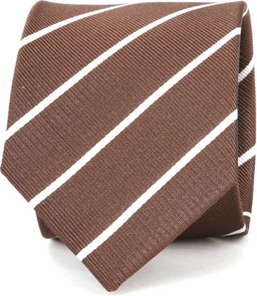 Suitable Tie Twill Stripe Brown