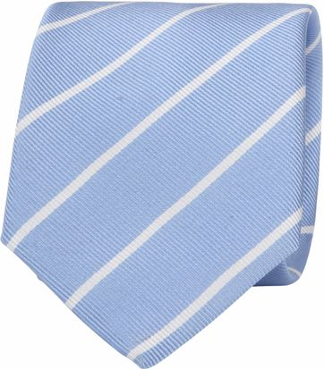 Suitable Tie Twill Stripe Light Blue