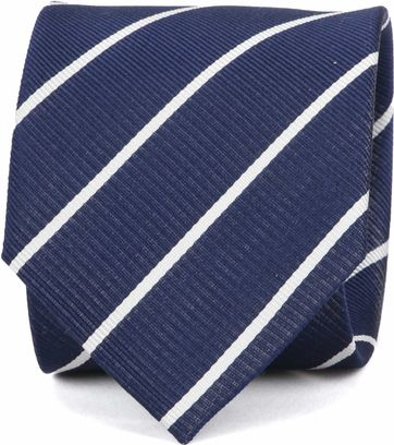 Suitable Tie Twill Stripe Navy