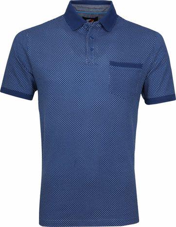 Suitable Till Poloshirt Dessin Blue