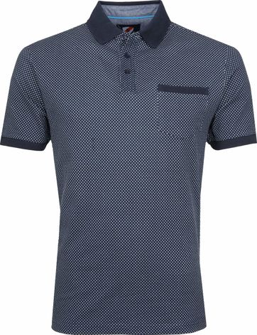 Suitable Till Poloshirt Dessin Dunkelblau