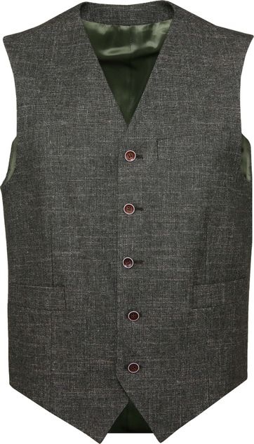 Suitable Tollegno Gilet Melange Groen