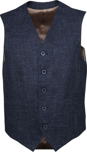 Suitable Tollegno Waistcoat Melange Navy