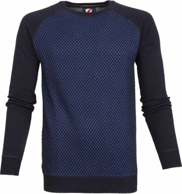 Suitable Trui Harry Navy Blauw