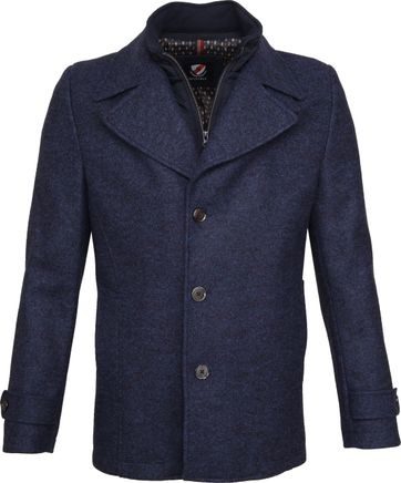 Suitable Turijn Coat Blauw