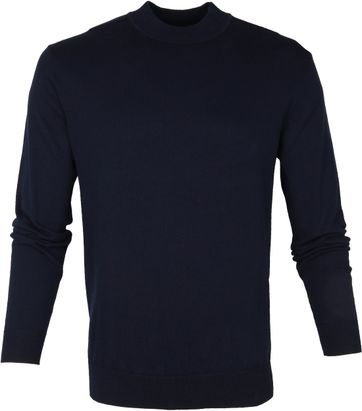 Suitable Turtle Pullover Donkerblauw