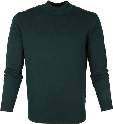 Suitable Turtle Pullover Donkergroen