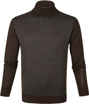 Suitable Turtleneck Merino Brown