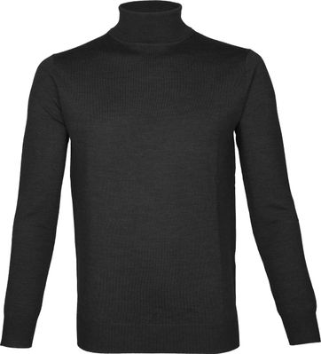 Suitable Turtleneck Niels Merino Dark Grey