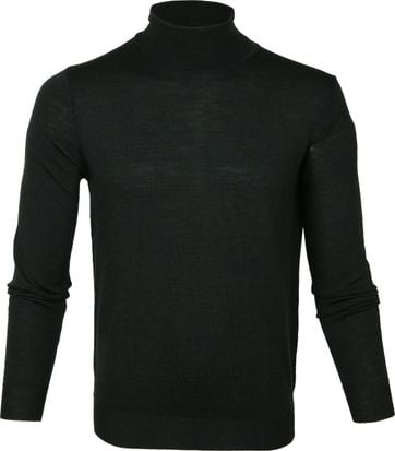 Suitable Turtleneck Pull Darkgreen