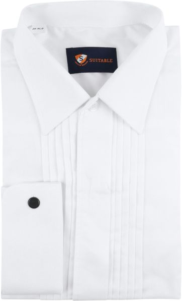 Suitable Tuxedo Shirt White
