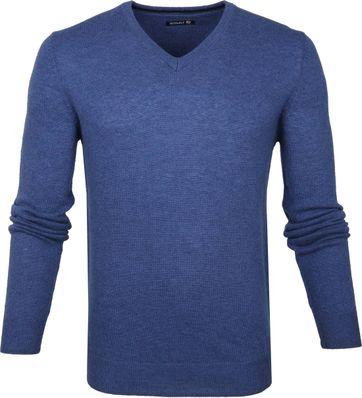 Suitable V-Ausschnitt Lammfell Blau