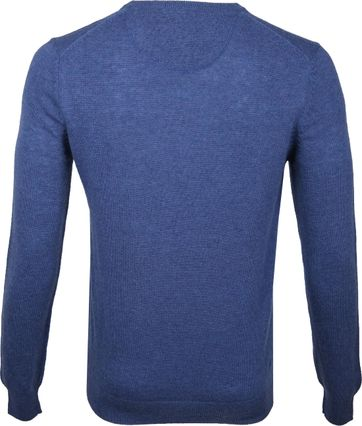 Suitable V-Ausschnitt Lammwolle Blau