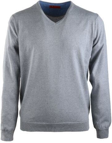 Suitable V-Pullover Grau
