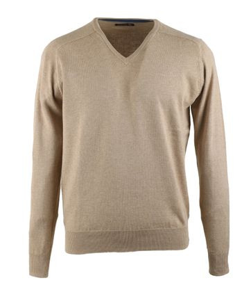 Suitable V-Pullover Sand