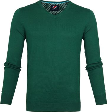 Suitable Vince Pullover Donkergroen