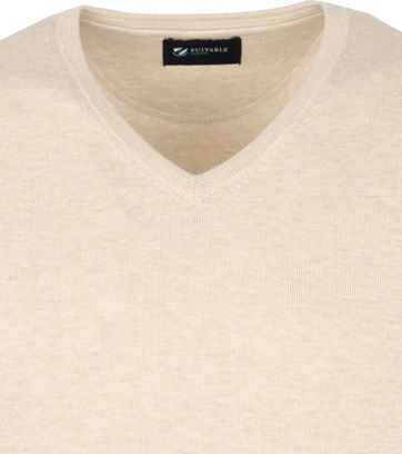 Suitable Vini Pullover V-Hals Beige