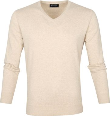 Suitable Vini Pullover V-Neck Beige