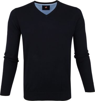 Suitable Vini Pullover V-neck Navy