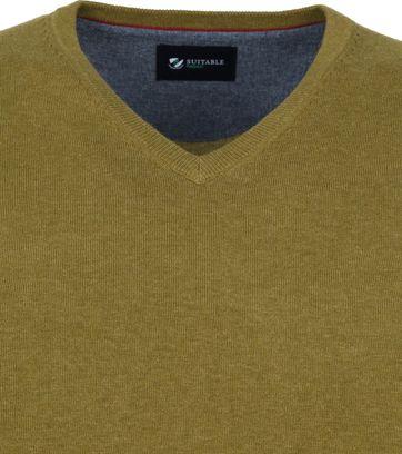 Suitable Vini Pullover V-Neck Olive Green