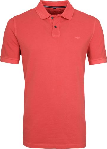 Suitable Vintage Poloshirt Koraal